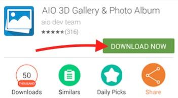 AIO Downloader download button
