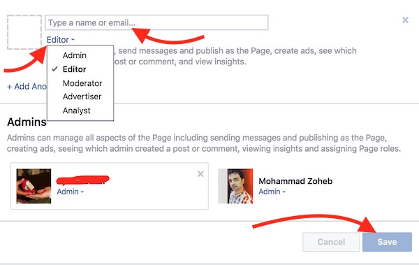 How to Add Admin, Editor or Moderator to FaceBook Page