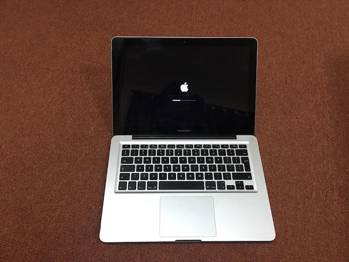 Black Mac Boot Screen