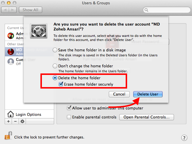Delete Home Folder Mac
