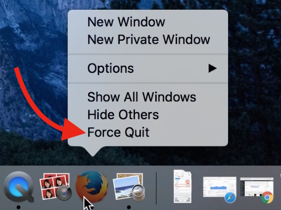 Force Quit Apps on Mac