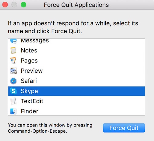 Force Quit Mac Apps
