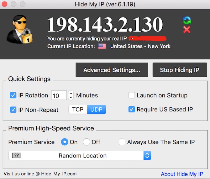 Hide My IP App