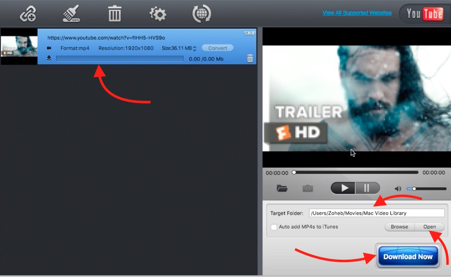 YouTube Downloader app for Mac