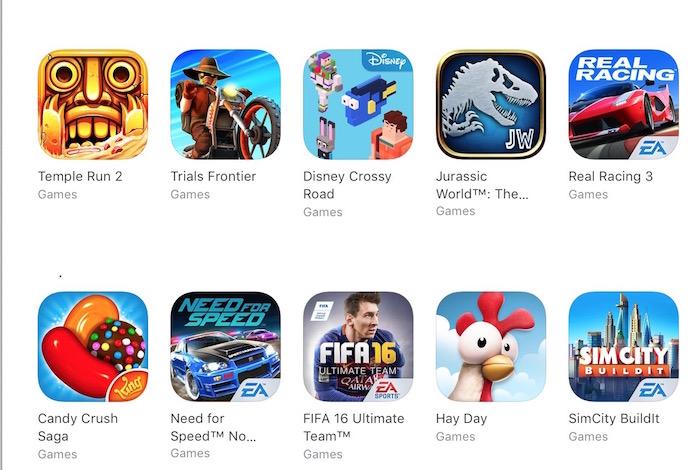 iOS top apps