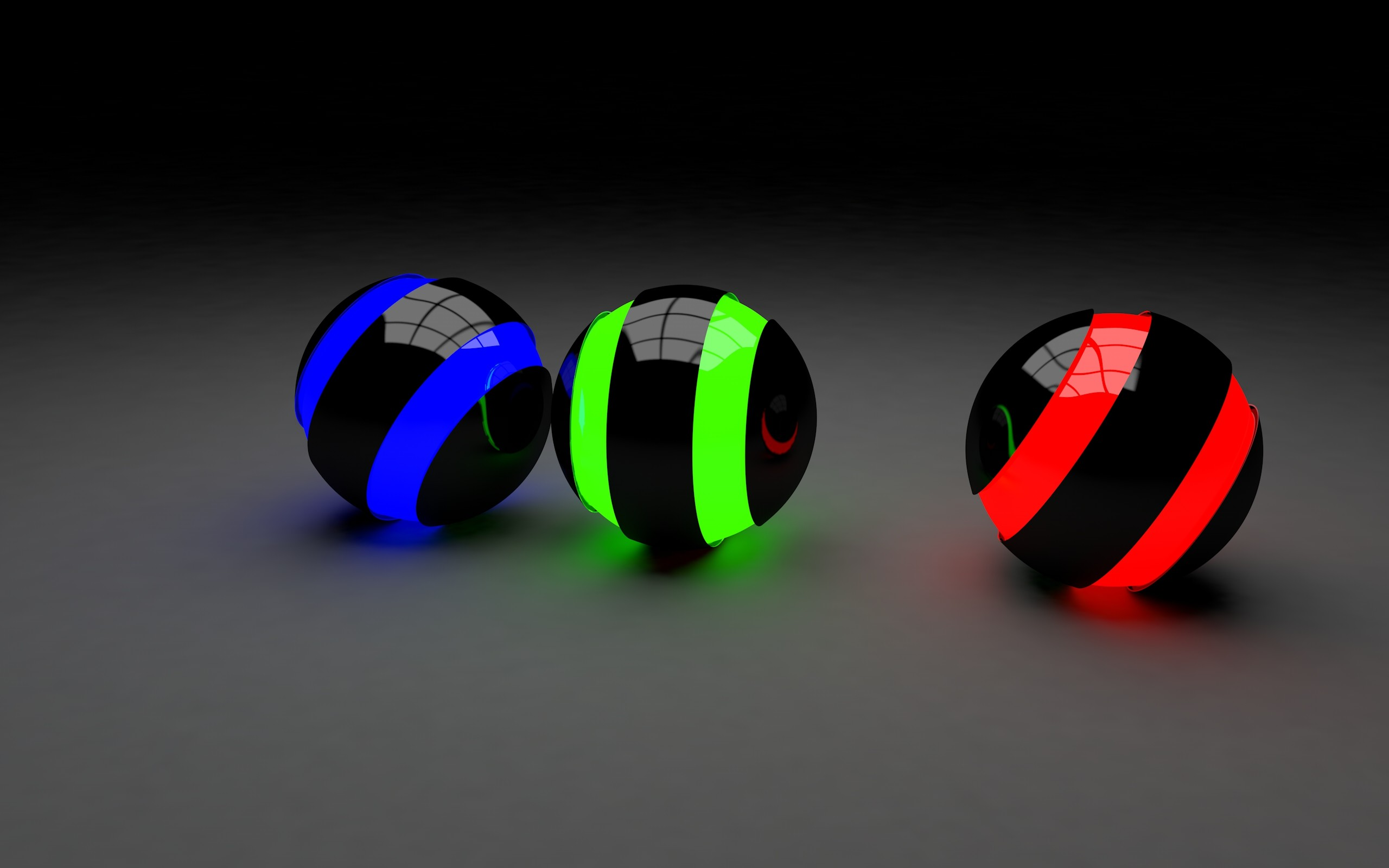 3D-ball-dark-Wallpaper