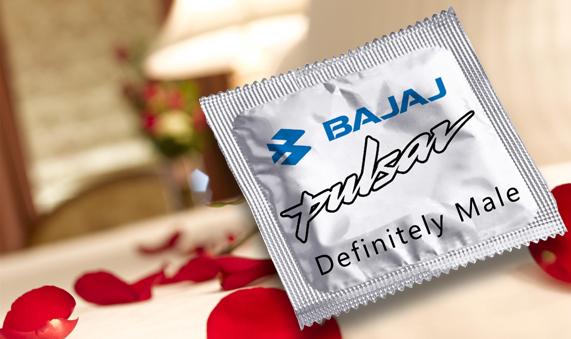 Bajaj Pulsar condom