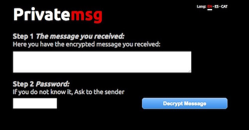 Decrypt Private Message