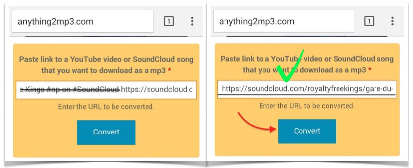 Download SoundCloud file from Android Smartphone