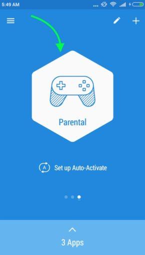 Enable Profile Lock Apps