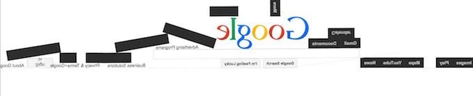 Google Gravity Fall Down