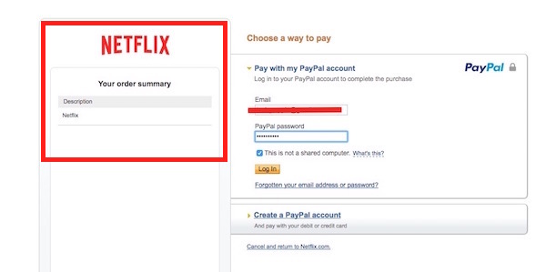 PayPal Deduction for Netflix