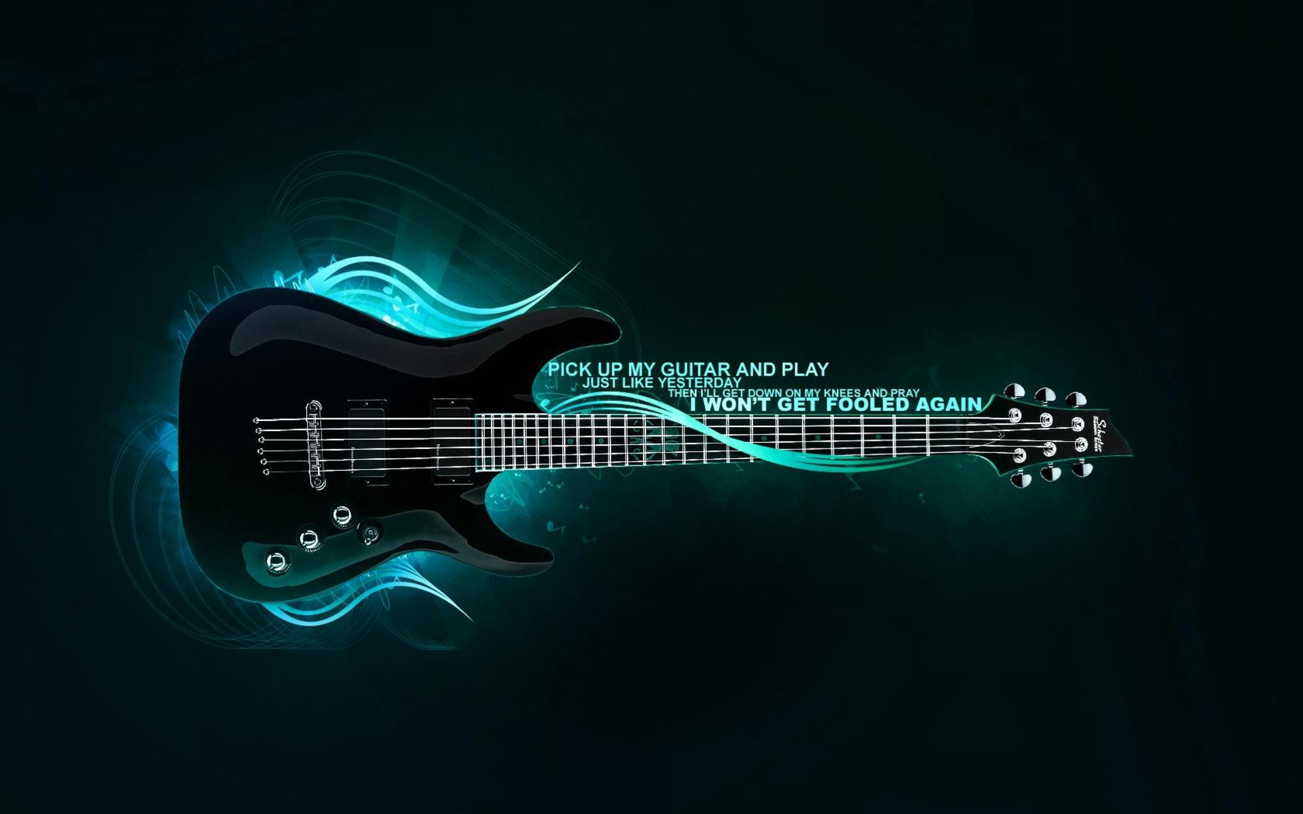 Guitar 2K HD wallpaper