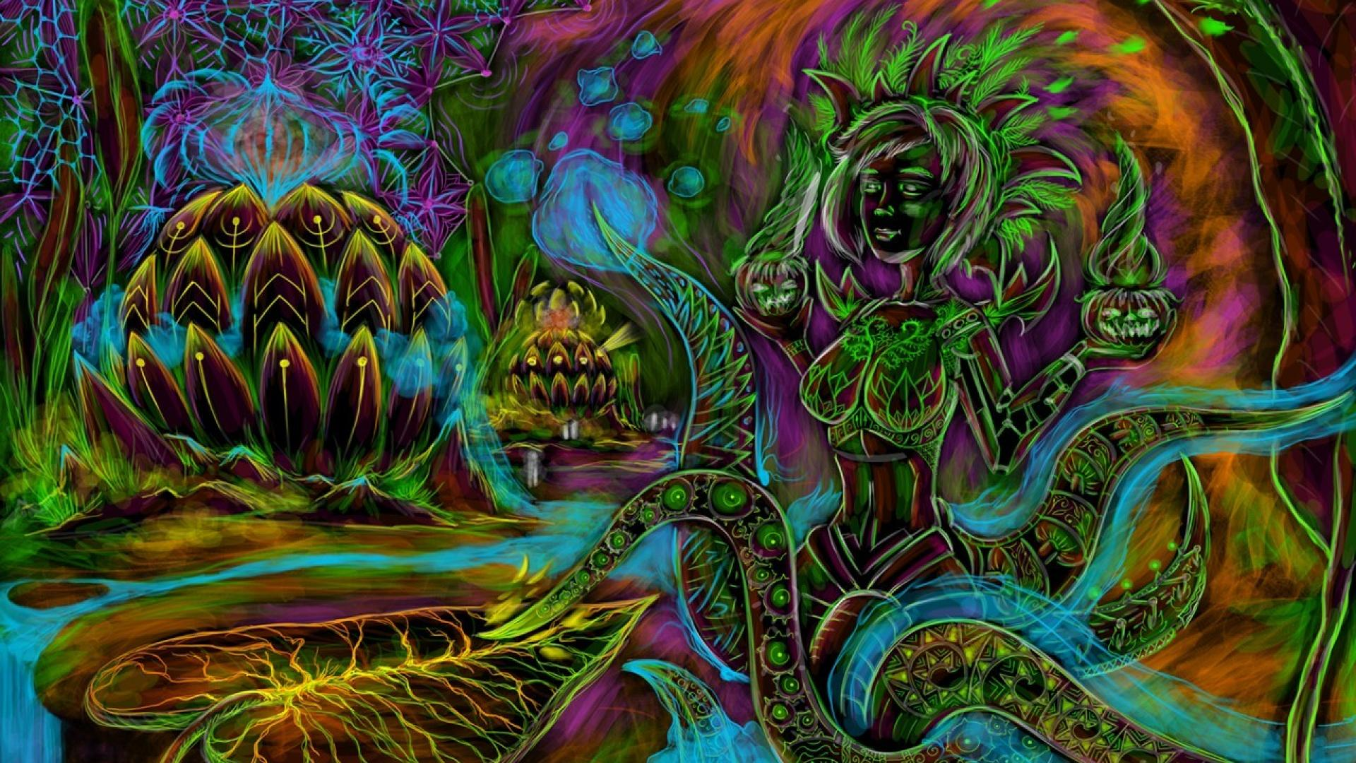 Psychedelic Wallpaper Devi kind