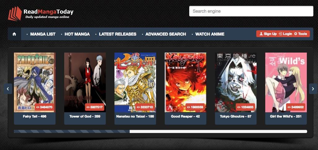 Read manga Website