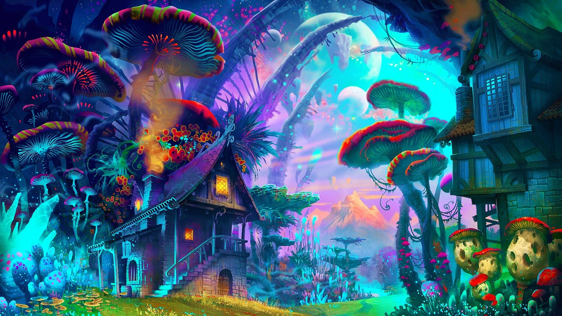 Trippy Background fantasy