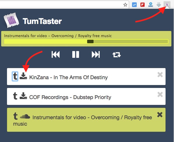 Tumblr Music Player and Downloader