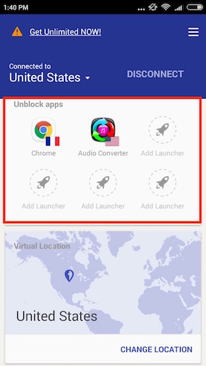 VPN App to connect to a server