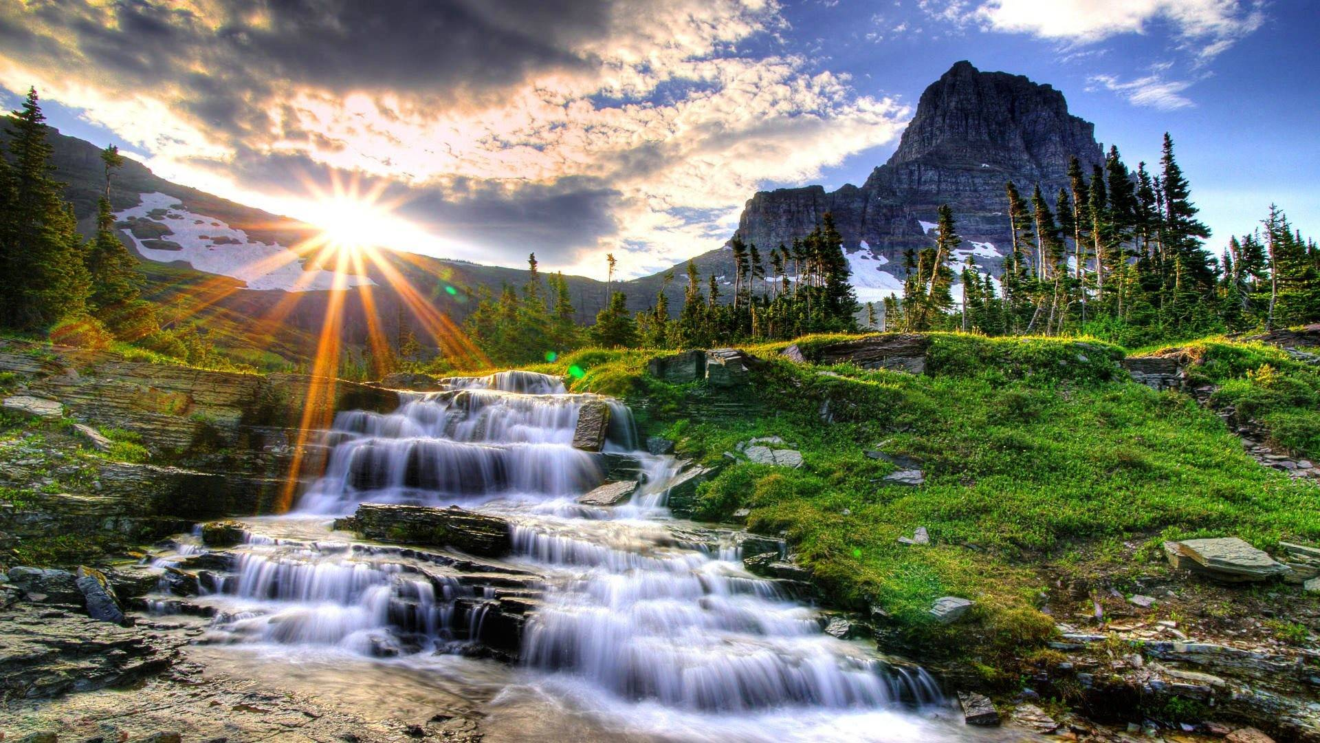 Water fall image nature wallpaper