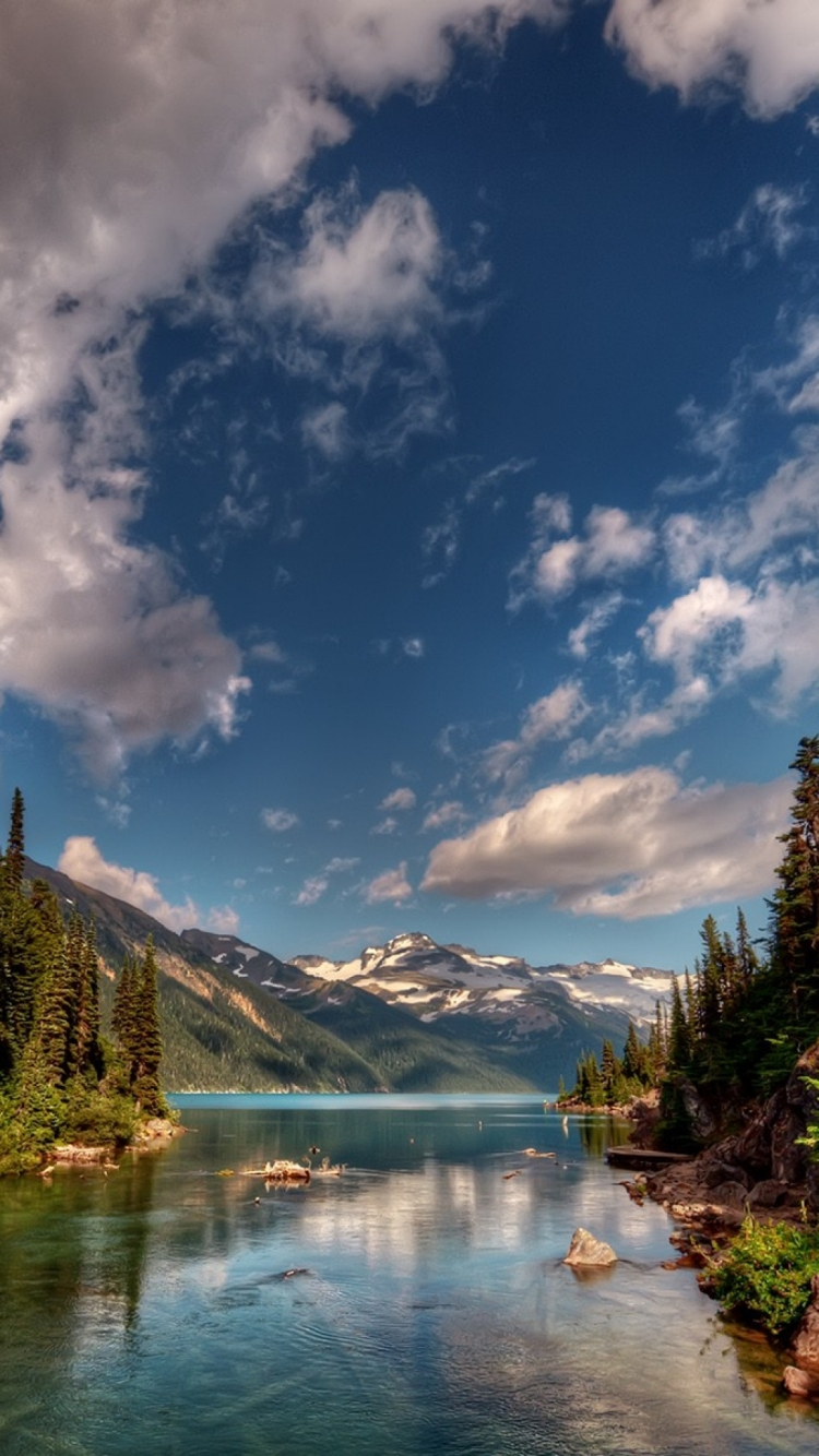 iPhone 6s lake sky mountain wallpaper