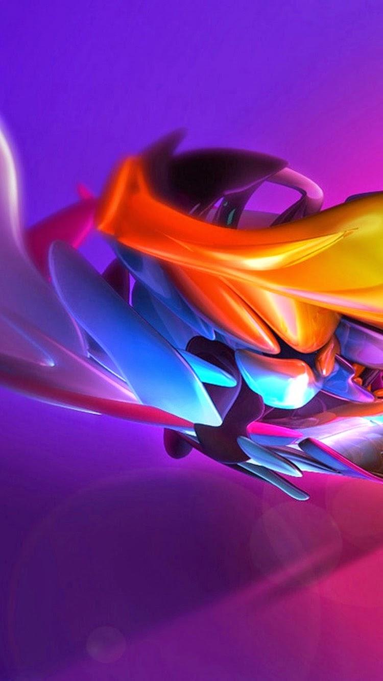 IPhone 7 3D Color Wallpaper
