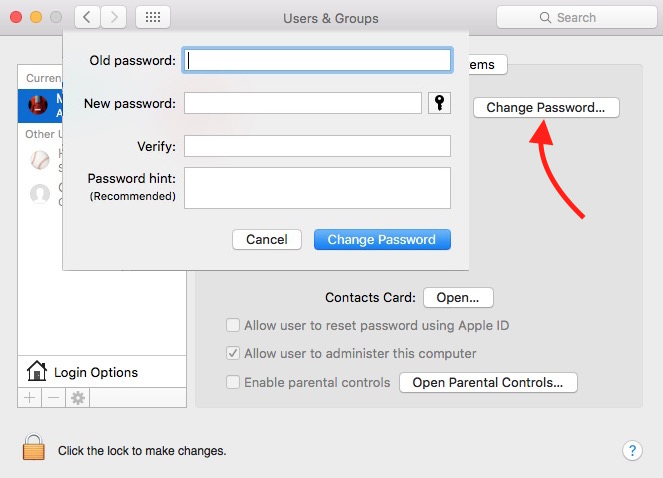change-password-on-mac