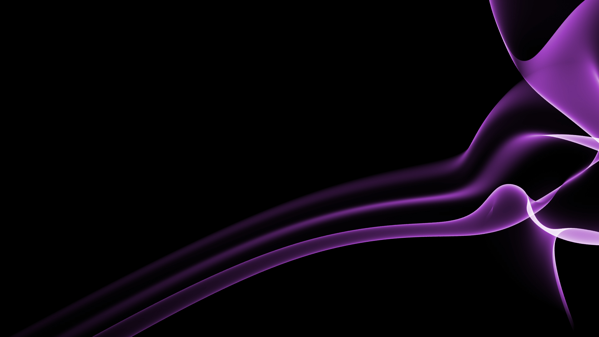 Purple Effect On Black Wallpaper