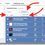 How to select many posts on a FaceBook Page and delete at once