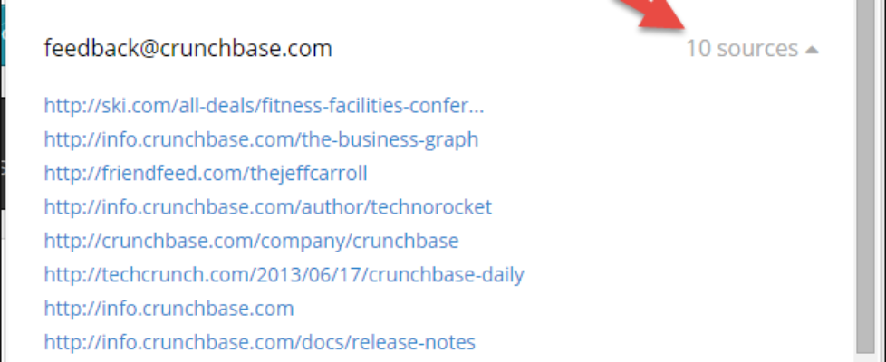 Sources sites email hunter
