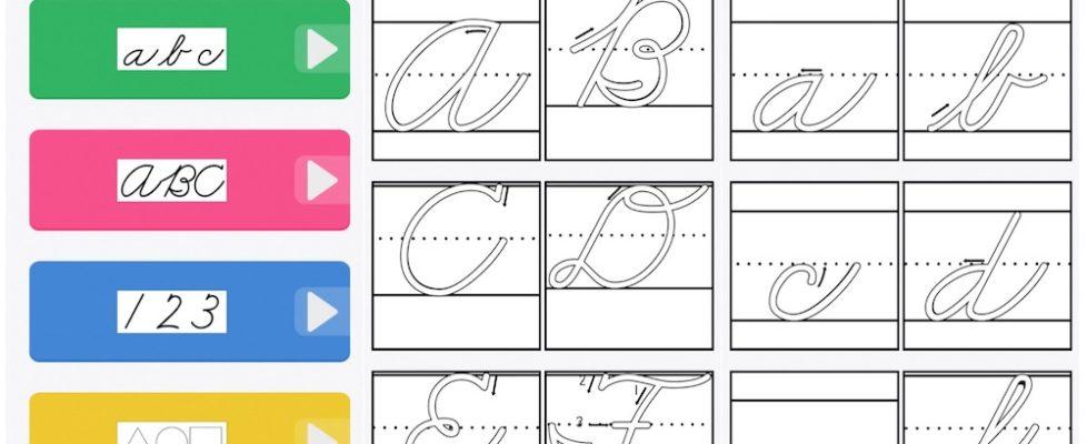 ABC Cursive Letter App