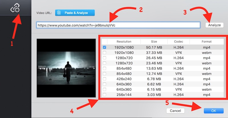 Analyze online video and audio to download