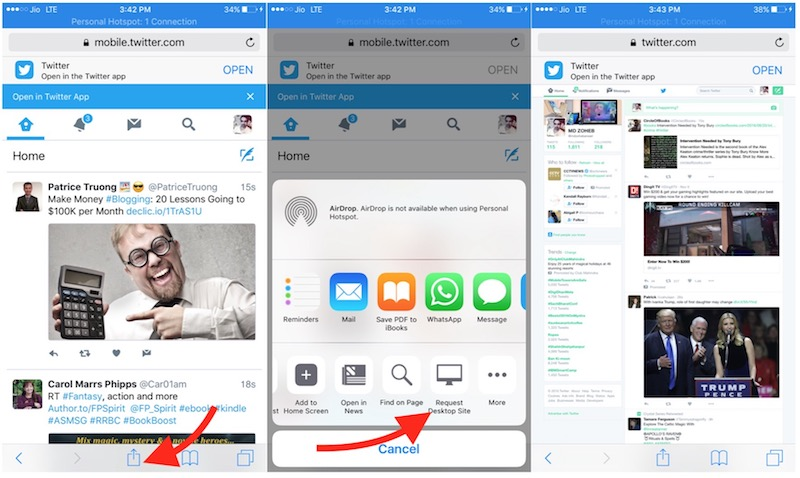 Full Desktop Twitter iPhone