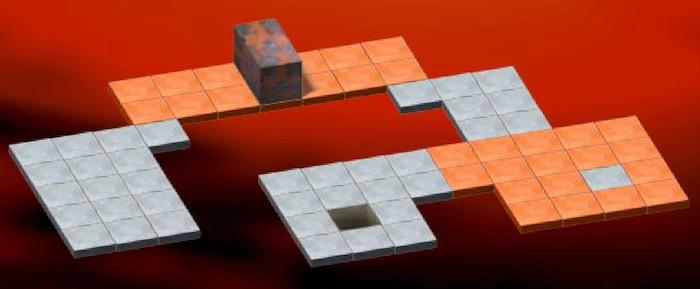Orange tiles in Bloxorz