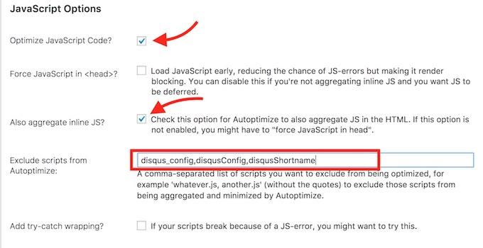Disqus blocked by Autoptimize