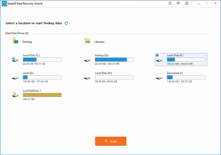 Ease US Data Recovery Tool
