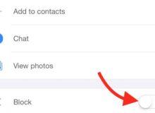 block a contact