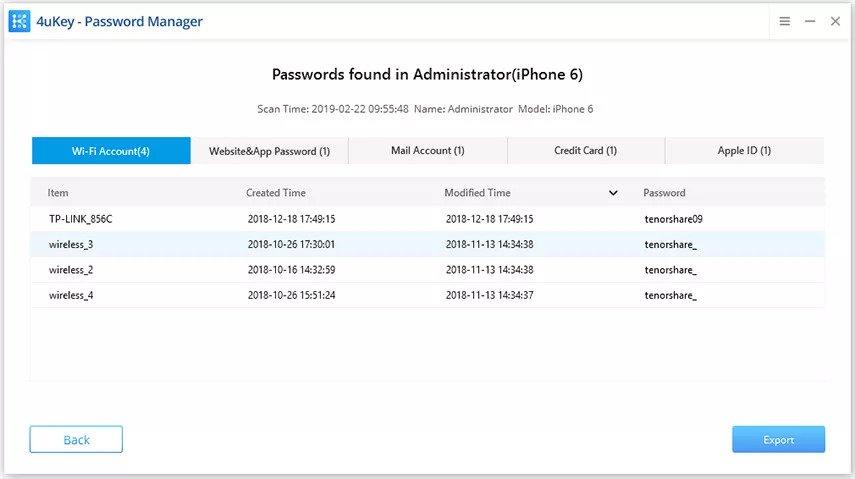 save password