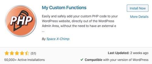 function php custom